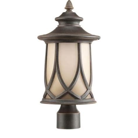 home depot outdoor post lighting progress lighting resort collection 1 light outdoor aged