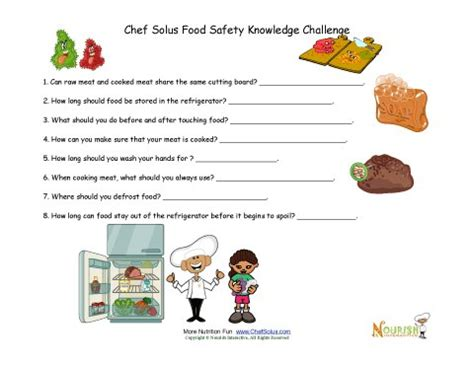 food safety questions for children and middle school children scouts food