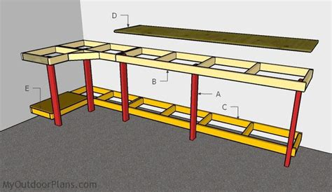 how to build a garage bench building a garage workbench diy plans pinterest
