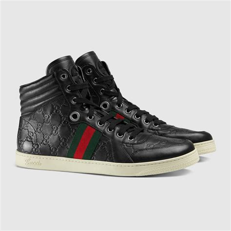 high top shoes guccissima leather high top sneaker gucci s sneakers