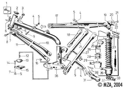 Motorrad Gabel Zeichnung by Explosionszeichnung S50 S51 Fahrwerk Rahmen