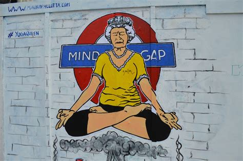 London Wall Mural the queen a london street art icon londonist