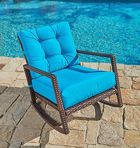 Suncrown Outdoor Furniture Teal Patio Rocking Chair   All