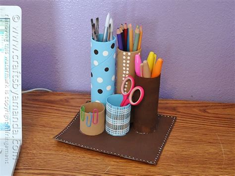 recycling ornament school prjuect ideas recycled cardboard desk caddy crafts by amanda
