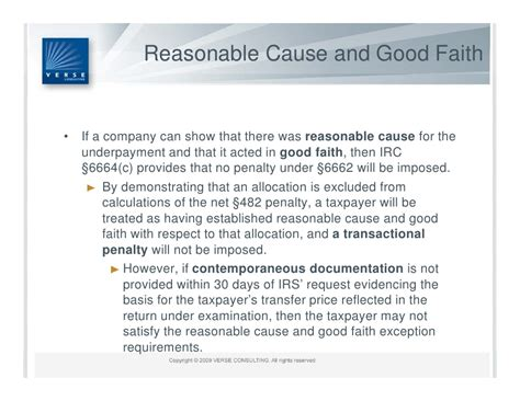 irc section 6662 u s transfer pricing penalty regime summary