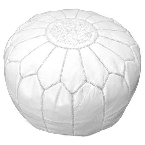 white leather pouf ottoman white moroccan leather pouf pouffe ottoman footstool