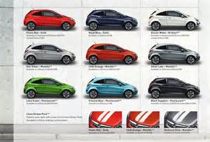 Vauxhall Corsa Colours New Corsa 2012 Models Edition 1