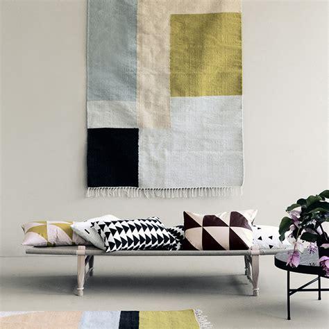 ferm living rug ferm living kelim rug squares small tapijt