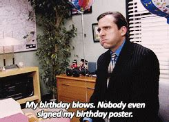The Office Happy Birthday sad gifs find on giphy