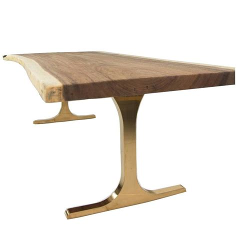 Copper Table Legs by Eco Slab Dining Table With Copper T Legs For Sale At 1stdibs