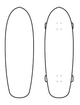 skateboard outline
