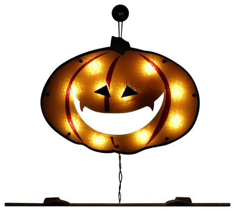 lighted o lantern pumpkin holographic window