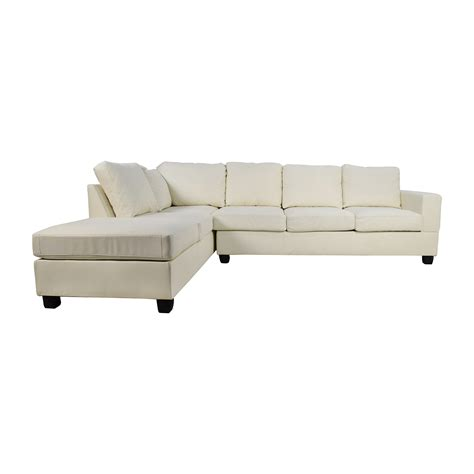 L Shaped White Sofa White Sectional Sofa With Chaise White Leather L Shaped Sofa