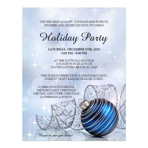 christmas flyer template for holiday events zazzle