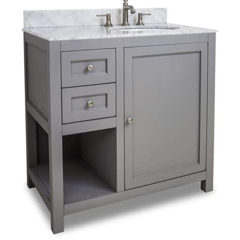 36 wide bathroom vanity jeffrey alexander van103 36 t grey astoria modern