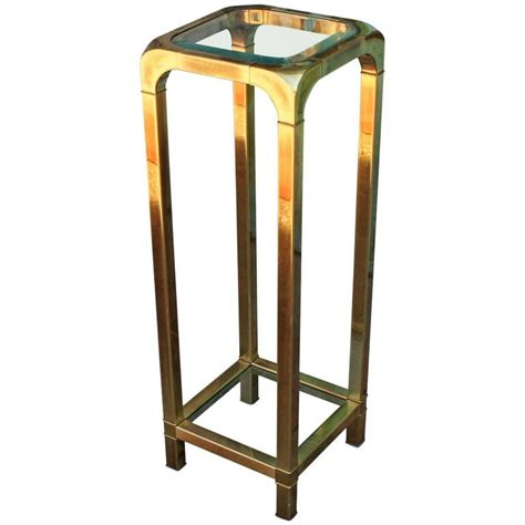 brass accent tables mastercraft brass and glass pedestal or accent table at