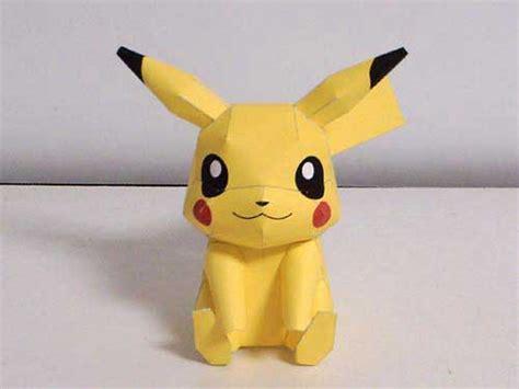 Pikachu Papercraft - pin papercraft o paper toys taringa on