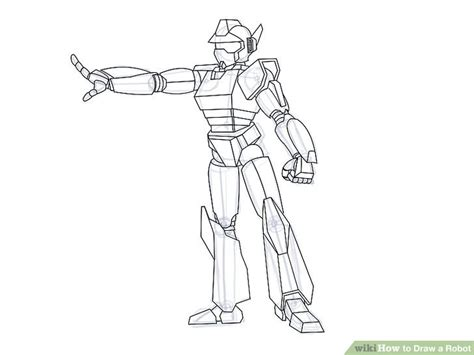 Drawing Robot by 4 Ways To Draw A Robot Wikihow