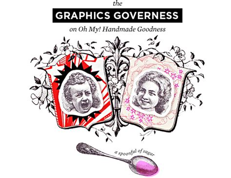 the graphics governess on oh my handmade goodness oh