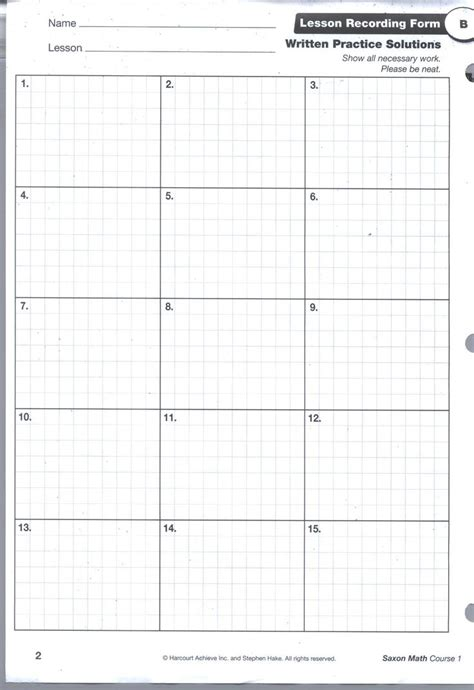 math paper template saxon math grid pg1 math saxon math and math