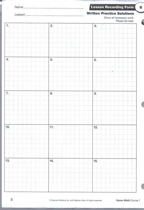 Saxon Math Worksheets by Saxon Math Grid Pg1 Math Ideas Saxon Math