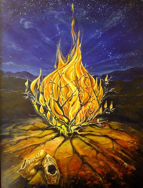 The Burning Bush crafted painting quot the burning bush quot by tandem