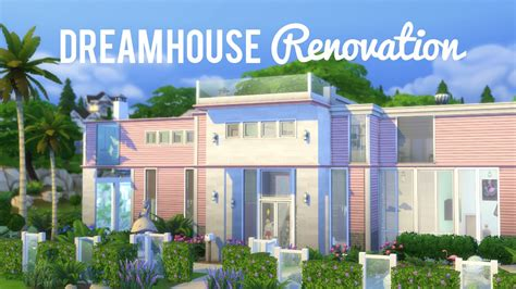 how to make a dream house the sims 4 speed renovation barbie dream house youtube