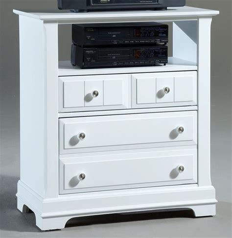 Media Drawers by 2 Drawer Media Chest In Snow White Finish