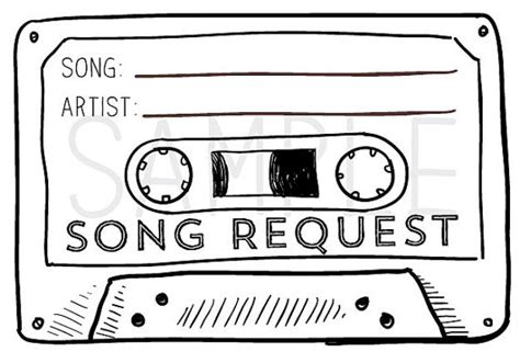 Wedding Clip Songs by 50 Cassette Song Request Rsvp Cards