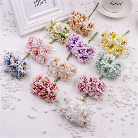Handmade Artificial Flowers - 6 pcs stamen artificial flower silk handmade gradient