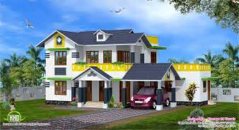 1900 sq kerala model sloping roof house kerala home