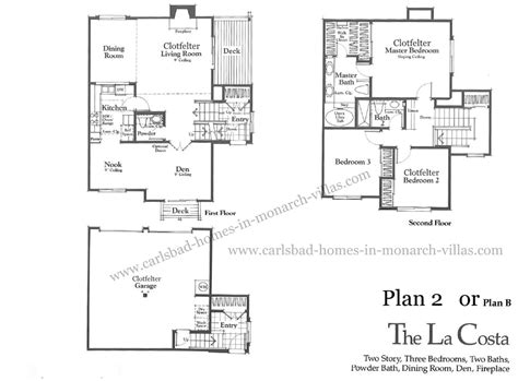 monarch homes floor plans monarch villas carlsbad plan 2 floorplan carlsbad homes
