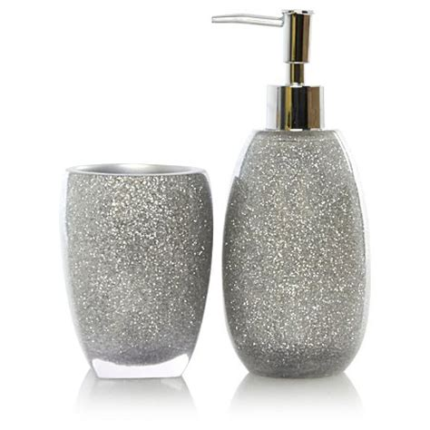 Silver Sparkle Bathroom Accessories George Home Silver Glitter Bath Accessories Range Bathroom Accessories George At Asda