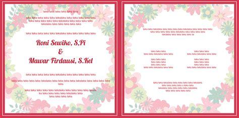 Undangan Flower 04 mataroni jasa desain undangan pernikahan