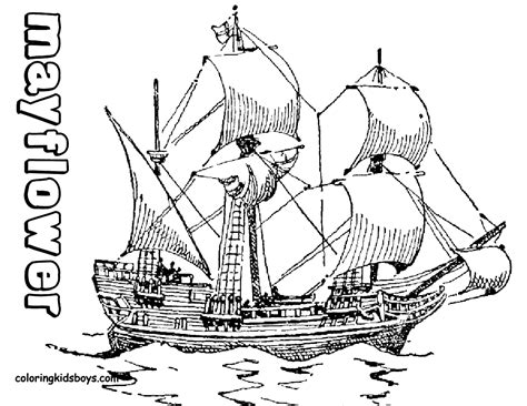 Mayflower Coloring Pages mayflower coloring pages thanksgiving mayflower ship coloring printables