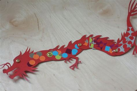 paper dragon tutorial and template tig serena