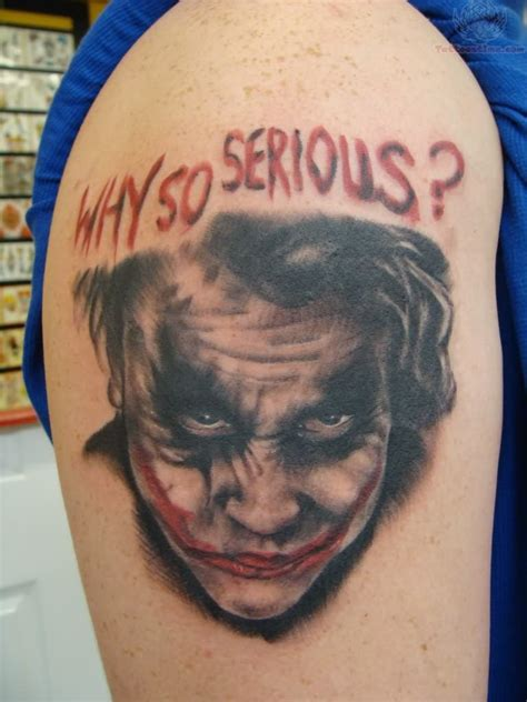 why so serious tattoo joker why so serious