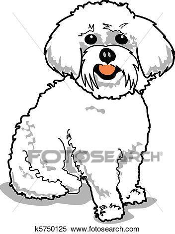 clipart cani clipart maltese k5750125 cerca clipart