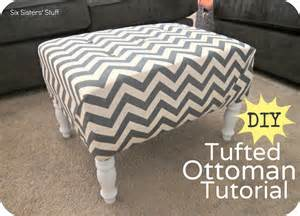 Diy Tufted Ottoman Diy Tufted Ottoman Fabric Recover Tutorial Six Stuff