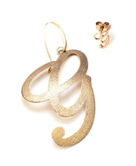 orecchini con lettere mono orecchino con iniziale gaia bijoux