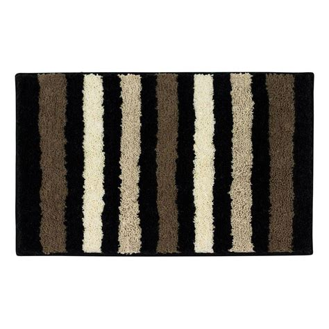 black bathroom rug bathtopia dmitri black 18 in x 30 in bath rug ymb002338