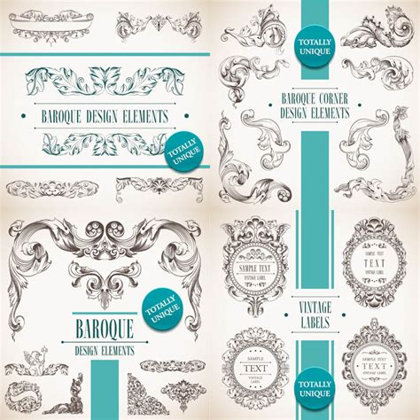 decorative baroque design elements vector wedding vector graphics blog page 3