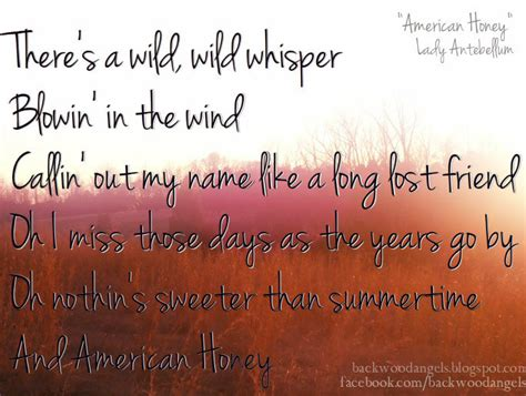 backwood quot american honey quot by antebellum