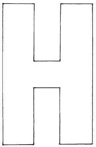Coloriage - Lettres et chiffres : H majuscule - 10 Doigts