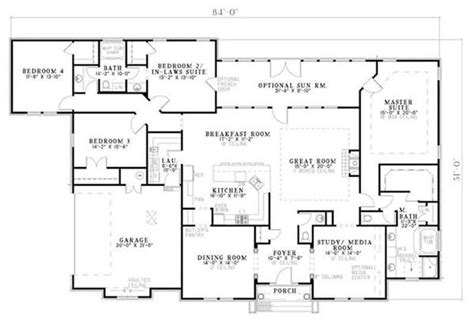 house plans with in suite house plans and design house plan single story in