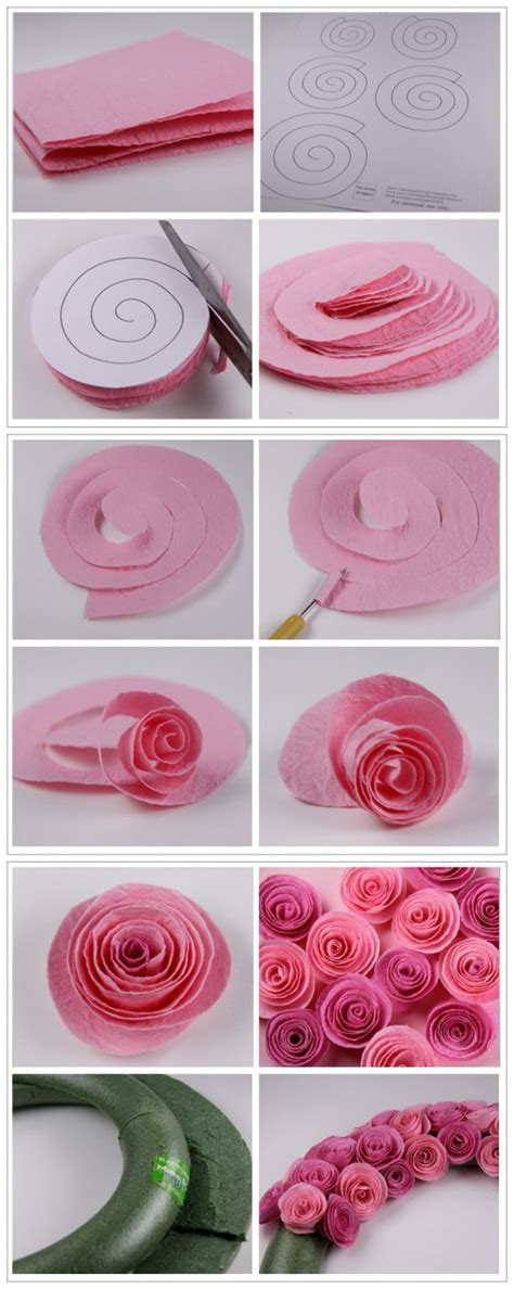 do it yourself crafts step by step find craft ideas how to make pretty rose wreath step by step diy tutorial