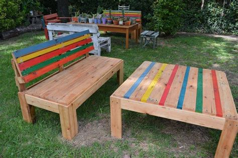 Patio Table From Pallets by Pallet Outdoor Furniture Ideas Pallet Idea