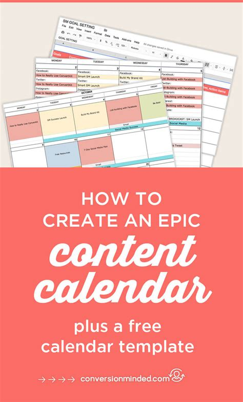 How To Create An Epic Content Calendar For 2018 With Template Social Content Calendar Template 2018