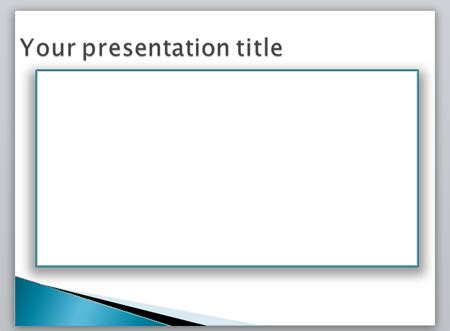 Creating A Border In Powerpoint Using Shapes Border Templates For Powerpoint