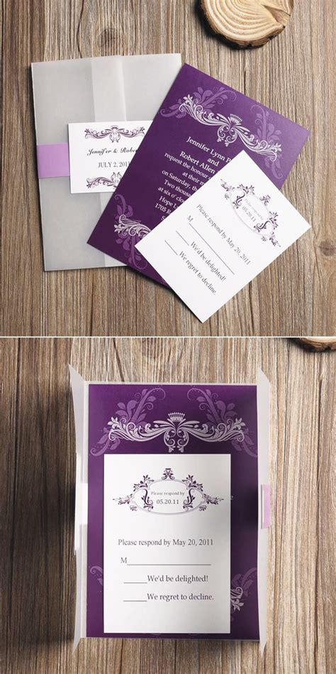 Cheap Purple Wedding Invitations by Purple Wedding Ideas Tulle Chantilly Wedding